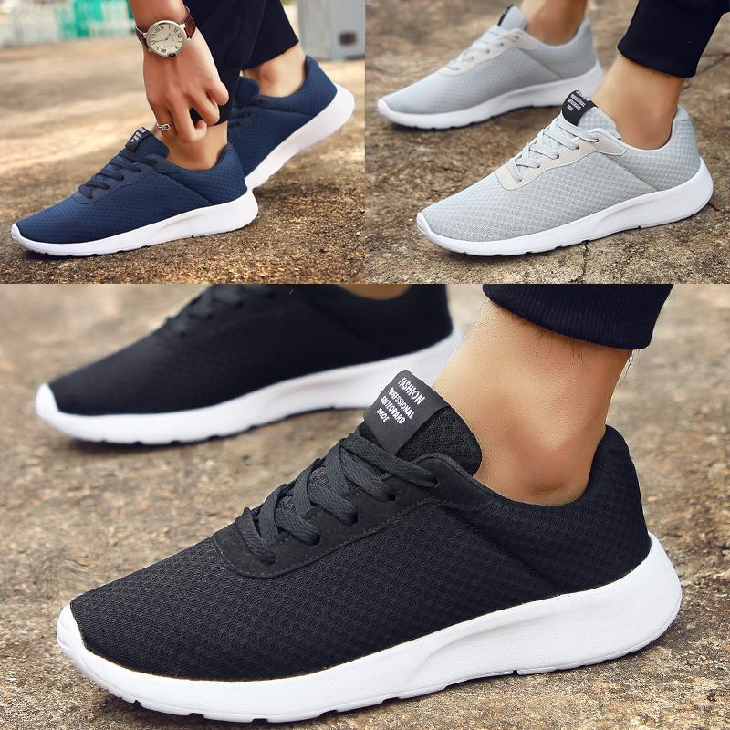 87754ea8920d Men s Running Shoes Fashion Breathable Mesh Soft Sole Outdoor Casual Athletic  Lightweight Casual Shoes Walking Sneakers Big Size 39-47 Men Lightweight ...