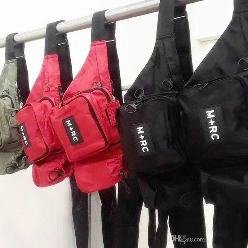 Brand New M+RC NOIR RR Waistbag Cross Body Waist Bag Pack Chest Pack Unisex  Fanny Pack Waist Bag Men Canvas Waterproof Messenger Bags