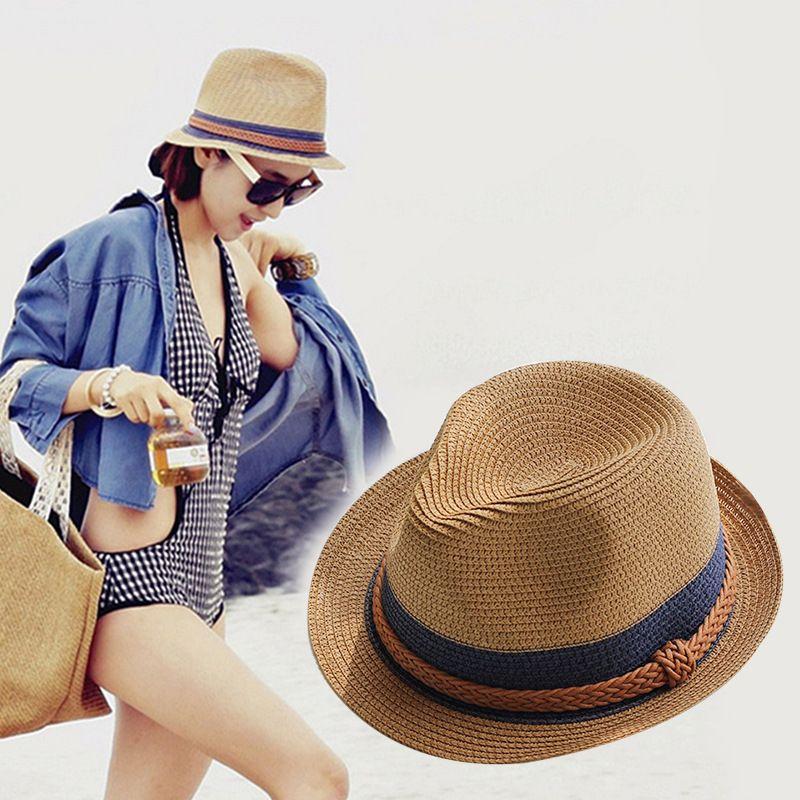 bc1bac0c Free shipping Lady's hat chokes pepper the same type of jazz straw hat  summer sun block sunshade beach sun