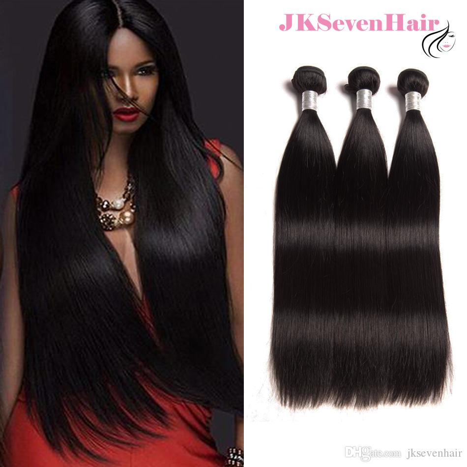 10A Grade Unprocessed Brazilian Straight Human Hair Extensions 3PCS Lot Peruvian Indian Malaysian Virgin Hair Bundles With Whole Sale Price