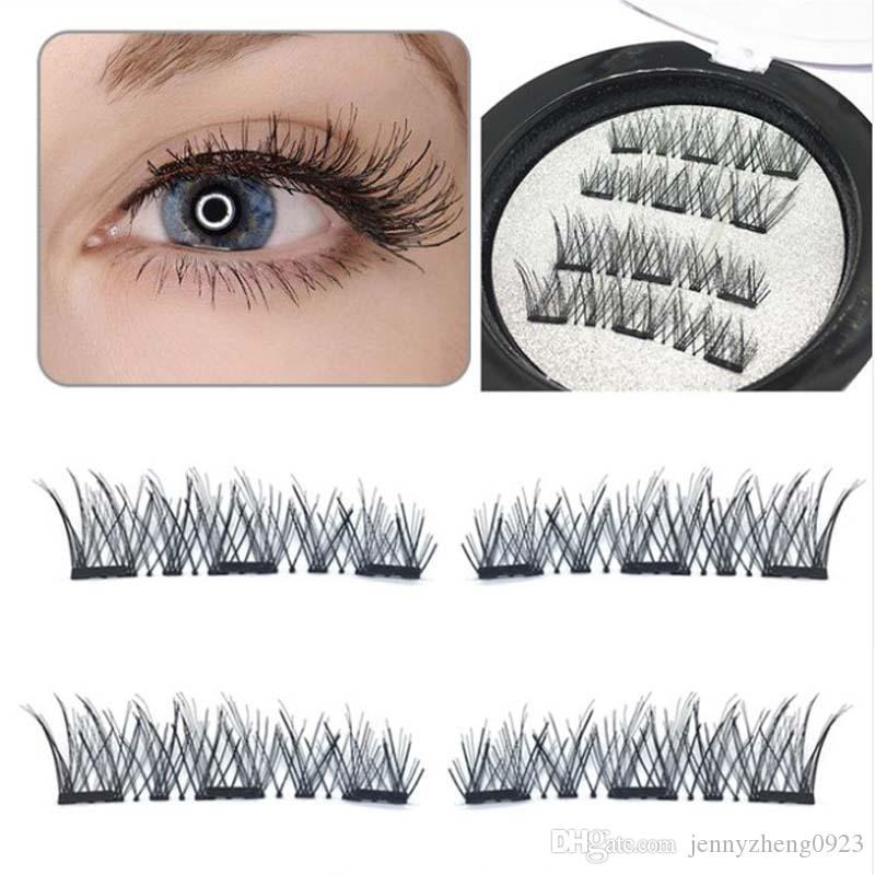 c1cb03fc55c Natural Cross 3D Three Magnetic False Eyelashes No Glue Ultra Thinner Magnet  Cross Fake Lashes Extension Tools For Women Eyelash Extension Course Eyelash  ...