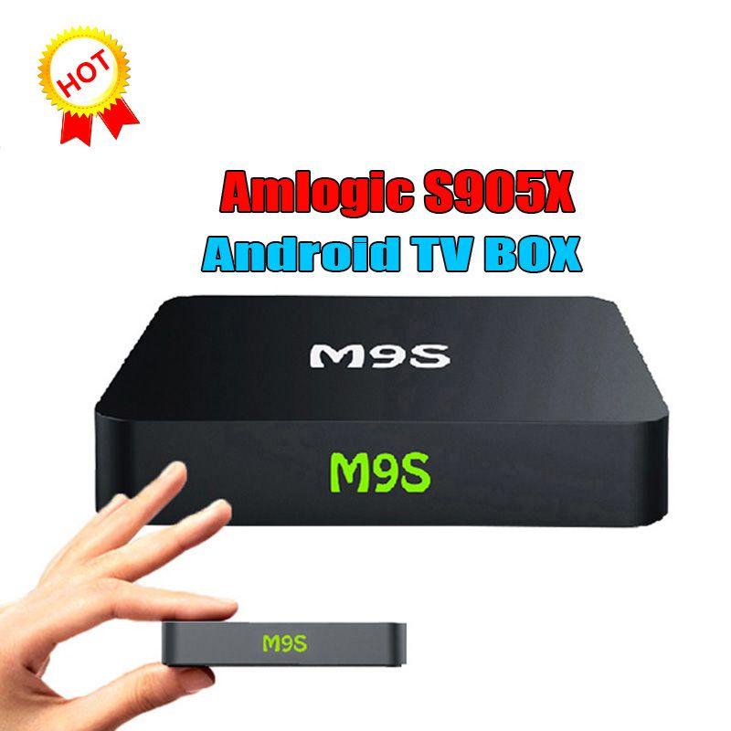 2018 M9S X1 Android 6 0 Smart TV BOX 4K Amlogic S905X Quad Core Media  Player Mini PC Miracast Airplay DLNA VS MXQ PRO T95Z H96 T95M