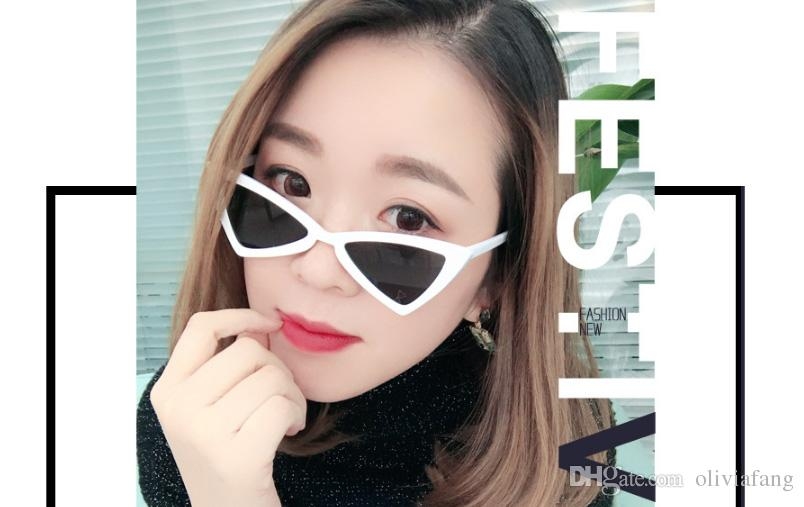 Мода шикарный личность треугольник объектив женщины солнцезащитные очки 2018 женщин солнцезащитные очки женщина бренд дизайнер очки поп тенденция очки УФ-защита f
