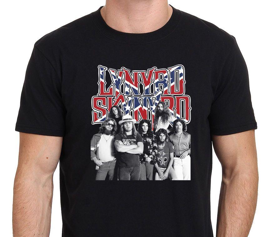 1ed6370d LYNYRD SKYNYRD T Shirt Rock Metal Country Music Classic Cotton Men Round  Collar Short Sleeve Top Tee Brand Style Short Sleeve Latest T Shirt Designs  Coolest ...