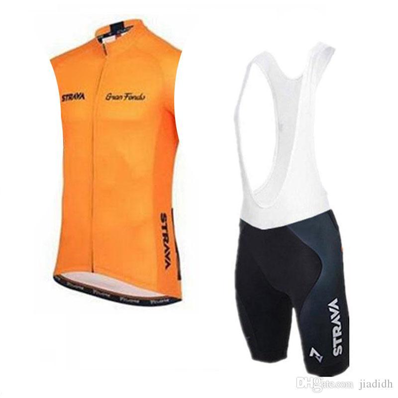 Pantaloncini ciclismo STRAVA Team Cycling Short Sleeves bib set Bicicletta da ciclismo outdoor set fresca e confortevole estiva traspirante c2413
