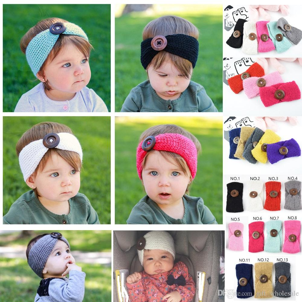 Baby Girls Wool Crochet Headband Fashion New Handmade Knit Hairband