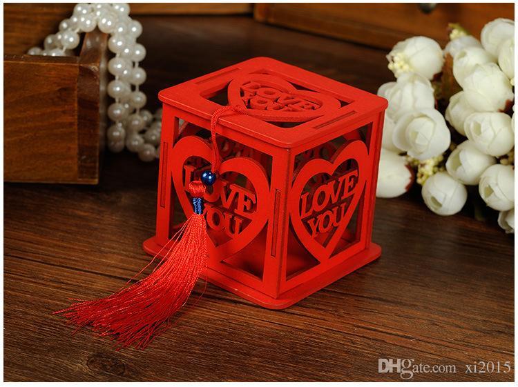 Scatola di caramelle a forma di scatola di caramelle cinesi cinesi con doppia nappa