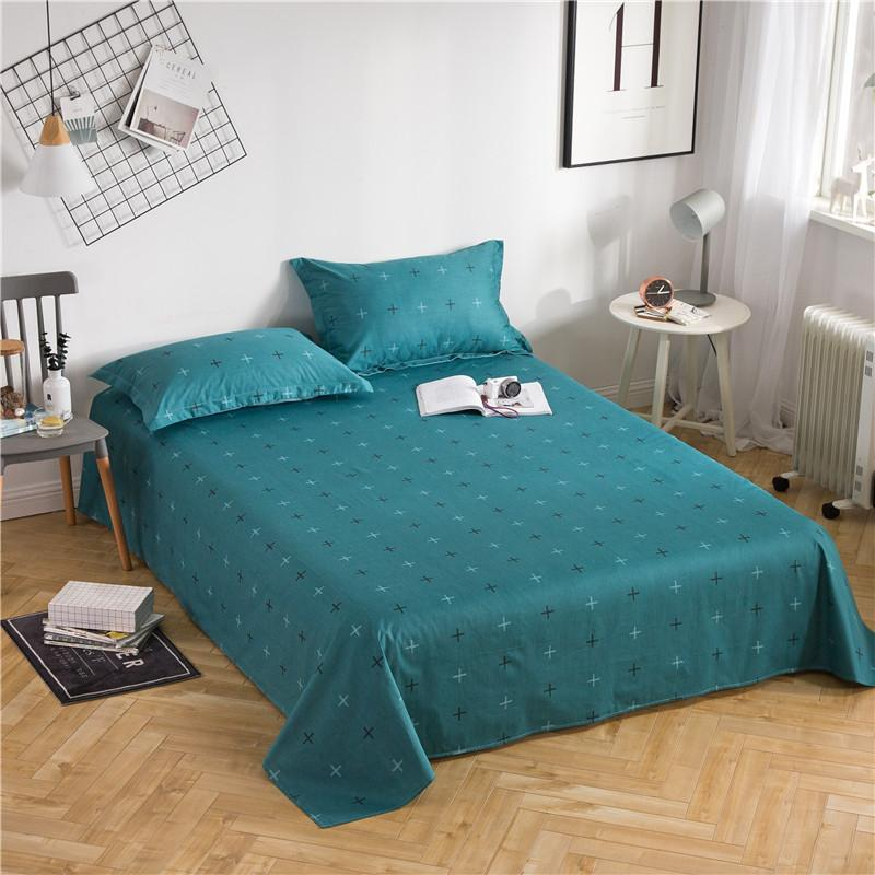 100% Cotton Bed Sheets Home Textile Bedding Flat Sheet Twin Queen King Size  Simple Fashion Green Bed Sheet Soft Warm Bedsheets Black And White  Bedspread ...