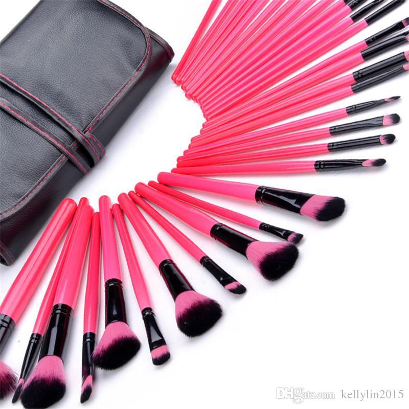 Make-upbürsten-Sätze professionelle volle kosmetische Bürste für Grundlagenlidschatten-Lippenpuder bilden Bürsten-Werkzeuge mit Fällen Tasche