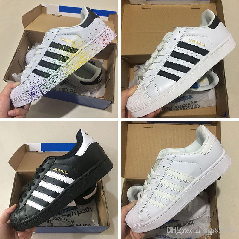 a495eea0028 Compre Adidas Superstar 80s Hot 2018 Moda Para Hombre W Zapatillas Clássico Smith  Stan Feminino Sapatos Baixos Mulheres Zapatillas Deportivas Mujer Amantes  ...