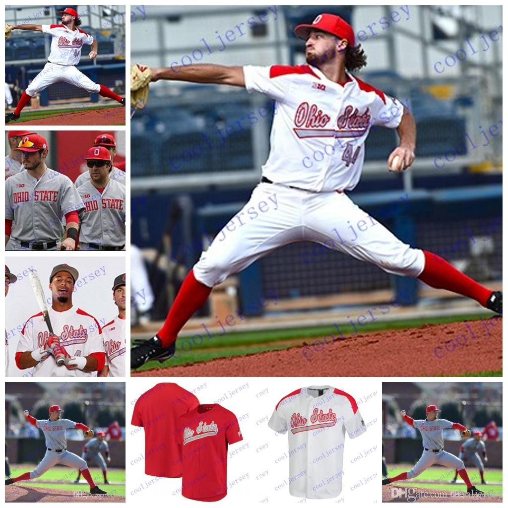 d448d373825 2019 Custom NCAA Ohio State Buckeyes College Baseball Personalized Any  Number Name  13  18  22  27 Gray White Red Stitched Jerseys S 3XL From  Cooljersey