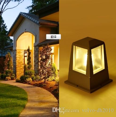 2019 Led Outdoor Lighting Garden Wall Column Lamp IP54 Waterproof Led  Outdoor Wall Pillar Lamp Pathway Lawn Lighting E27 Bulb Fixture LLFA From  Volvo Dh2010 ...