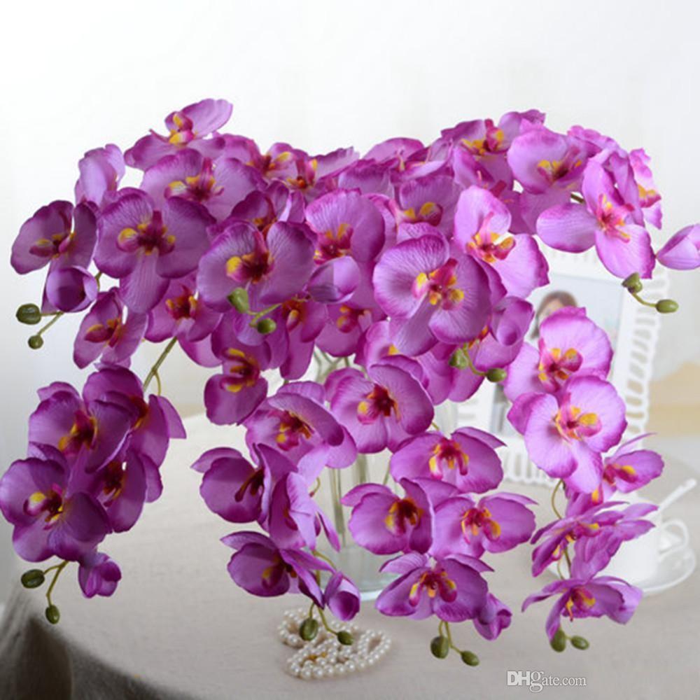 2018 Upscale Phalaenopsis Artificial Flowers Diy Artificial