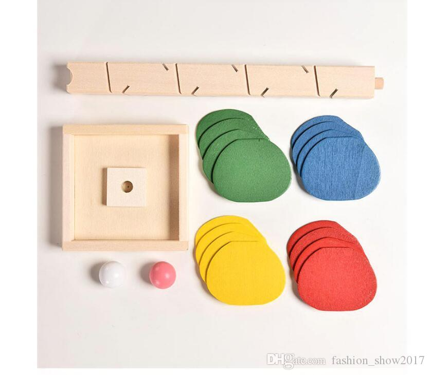 Wooden Tree Marble Ball Run Track Game Baby Montessori Blocks Kids Children Intelligence Educational Model Building Toy