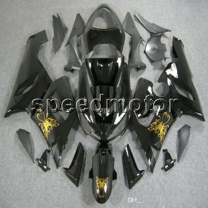 23colors + Regali Carenatura moto in oro nero per Kawasaki ZX6R 2005 2006 ZX 6R 05 06 ZX-6R Kit in plastica ABS