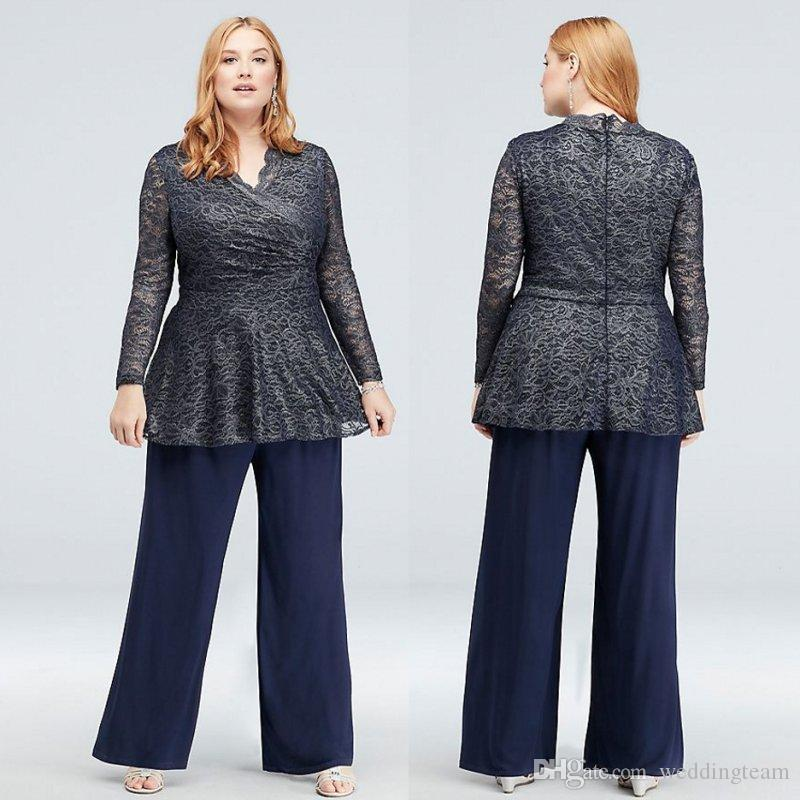 37896b68bf55 ... Suits V Neck Formal Wedding Guest Dress With Long Sleeves Plus Size Mothers  Groom Dresses Mother Of The Bride Pant Suits Joan Rivers Malpractice Suit  ...