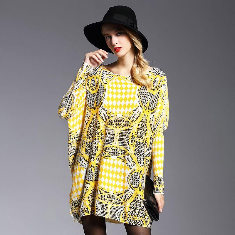 7e9070cde 2018 Autumn Winter New Women Sweater Fashion Yellow Casual Loose ...