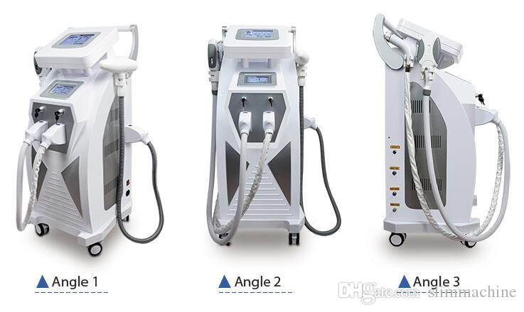 3 IN1 Elight+OPT+YAG Laser hair and tattoo removal machine face lift beauty deive skin rejuvenation spa saloin use equipment