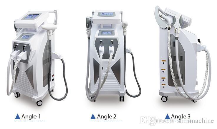 5 en 1 multifunción OPT SHR IPL Depilación láser ND YAG Remoción de tatuajes Láser Máquina para rejuvenecer la piel