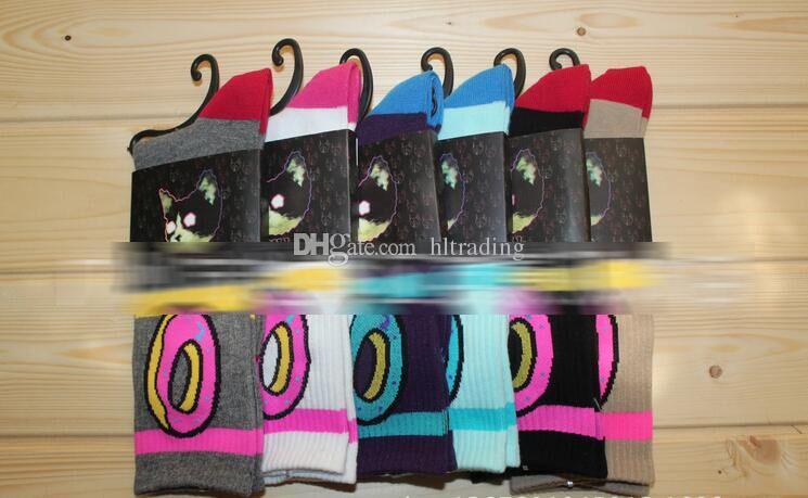 Donuts socks Cotton Basketball Sport Socks Donuts print Stockings 2018 new women Men big children socks C449