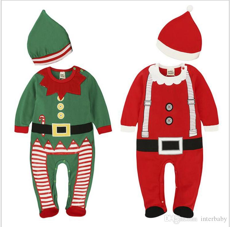 36b2c54aa 2019 Kids Clothes Costume Set Baby Boys Santa Cute Rompers Children ...