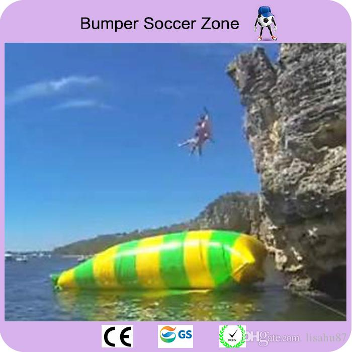 10x3m 0.9mm PVC Tarpaulin Inflatable Water Blob Inflatable Jumping Pillow Water Jump Blob Come With a Pump