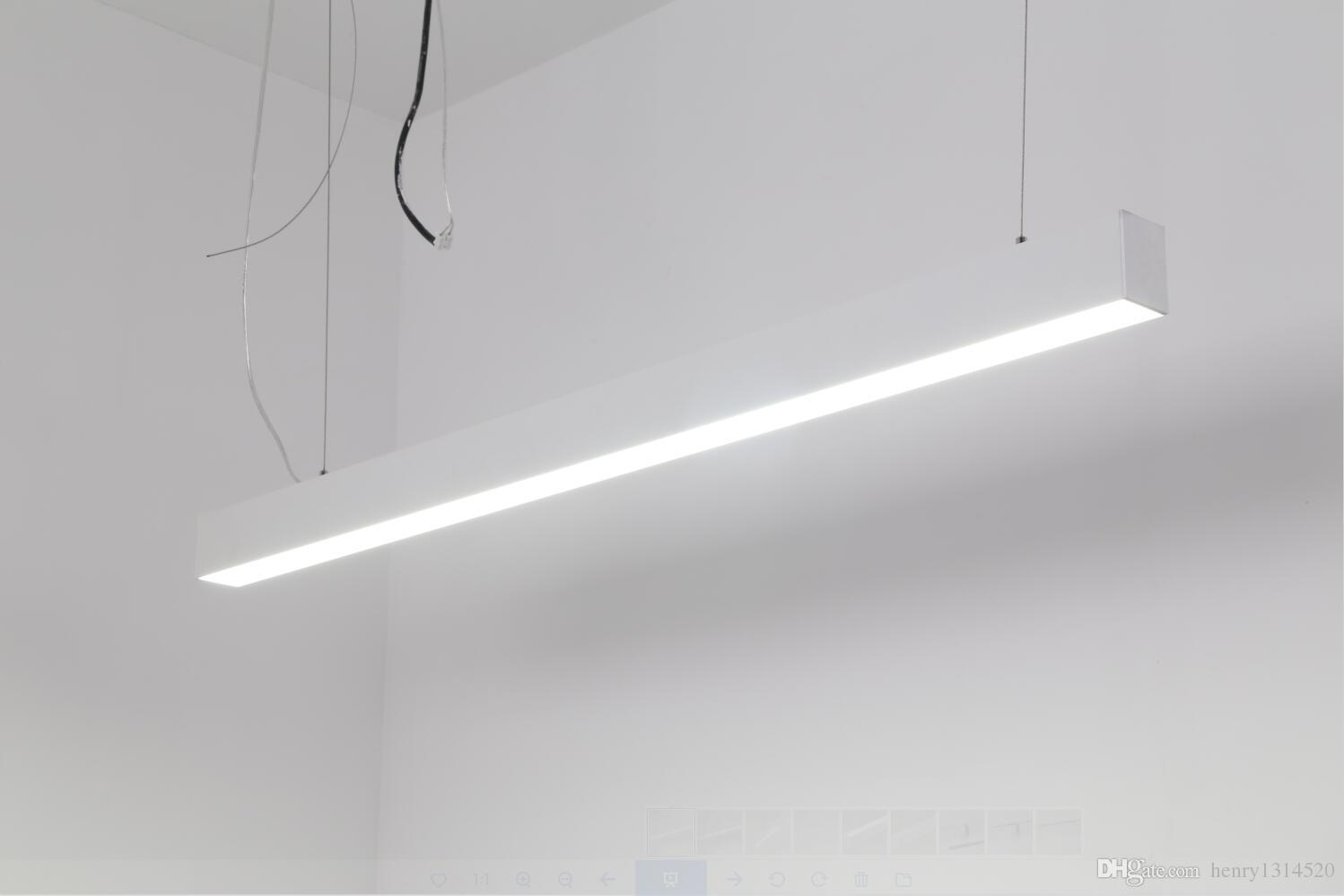 suspended linear lighting. Epistar 110LM/W 600mm 15W LED Suspended Linear Lights With Hanging Cable PF\u003e0.9 3 Years Warranty Led Bar Light Lamp Online Lighting N