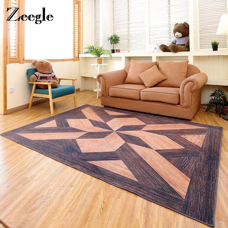 Zeegle 3D Geometric Carpets For Living Room Modern Anti Slip Office ...