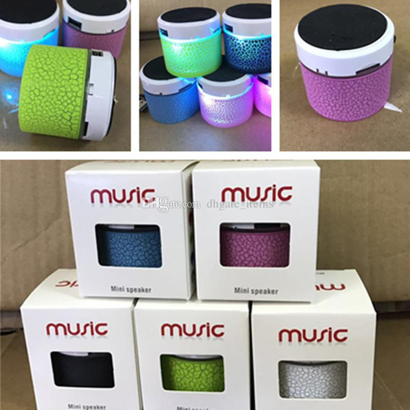 Mini Crackle Texture Phone Bluetooth Speaker LED S10A9 Loudspeakers  Portable Music Player Speakers with box for iphone x 8 samsung s9 plus