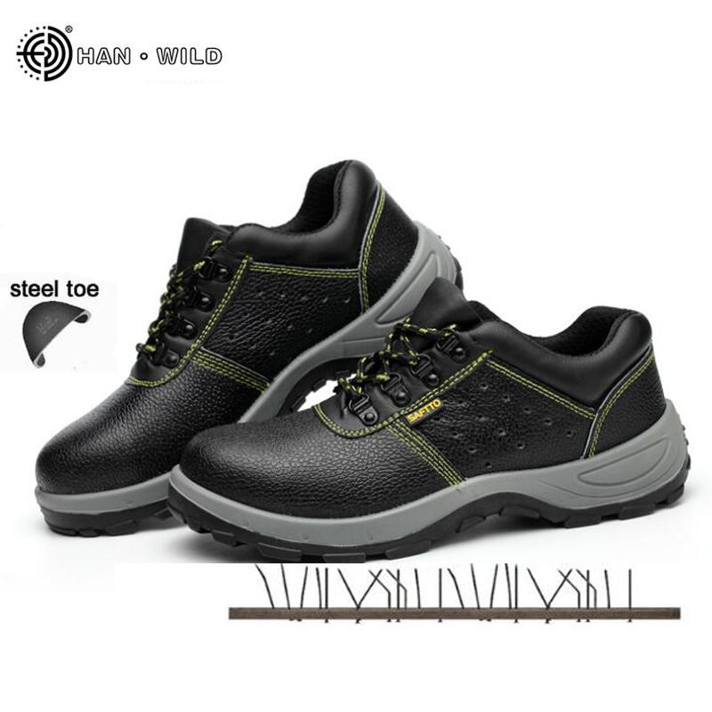 aabc0356fec5c 2019 Mens Safety Work Boots Summer Black Breathable Steel Toe Cap Casual Shoe  Labor Insurance Puncture Proof Shoes Men Sneakers Walking Boots Ankle Boot  ...