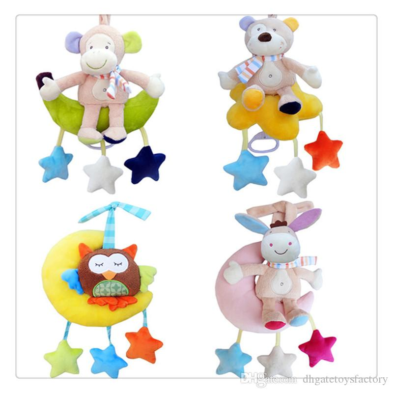 2019 Baby Wind Up Musical Stuffed Animal Stroller Crib Hanging Bell