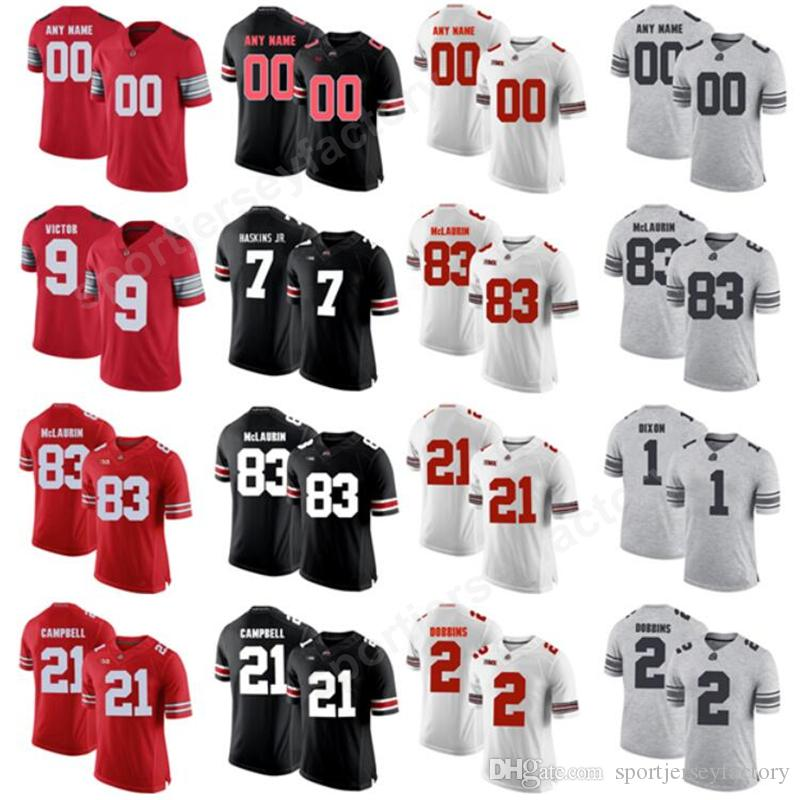 b07e19e0b68 Custom College 7 Dwayne Haskins Jersey Men Football Ohio State Buckeyes 2  JK Dobbins 83 Terry McLaurin 14 KJ Hill Youth Red Black White