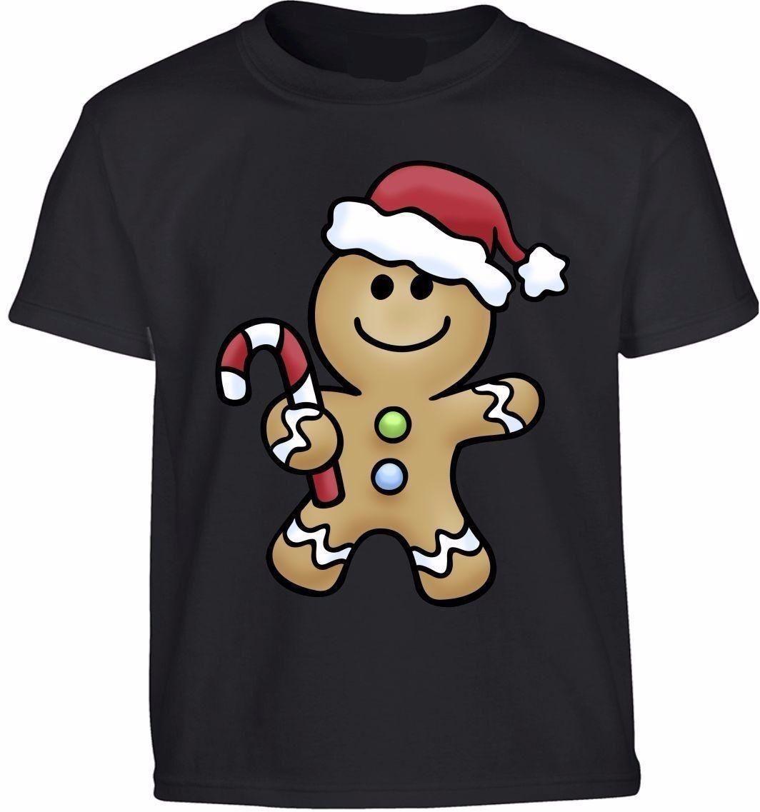SANTA GINGERBREAD MAN SHREK COOKIE KIDS T SHIRT CHRISTMAS NEW YEAR ...