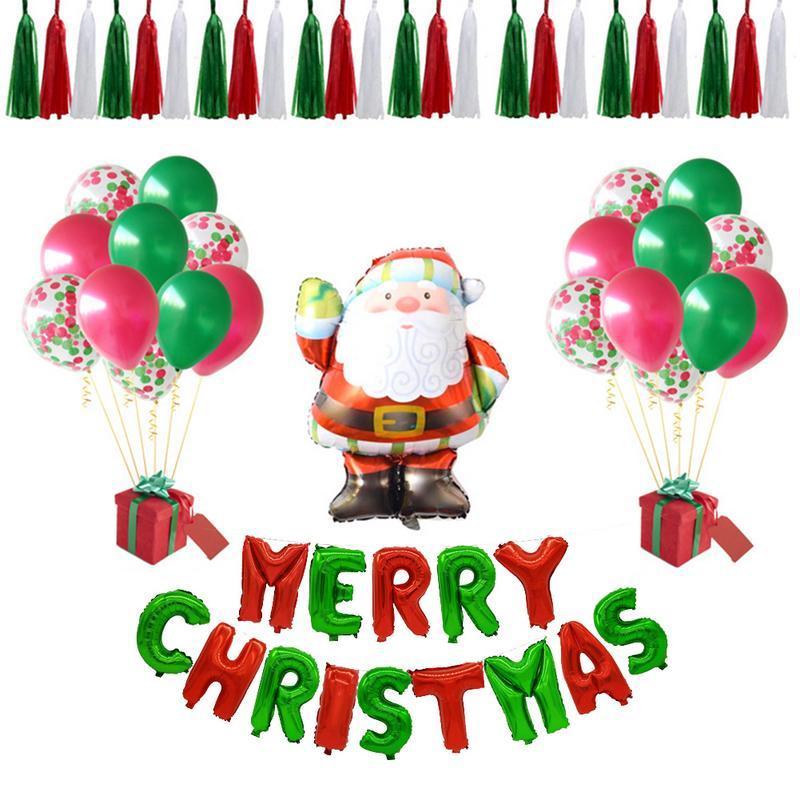 Großhandel Frohe Weihnachten Dekoration Ballons Set Ktv Hotel Party