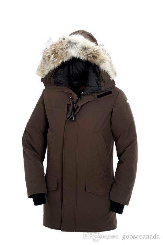 sale retailer b7bcf 245b3 Canadian Winter Fourrure Down Parka Homme Jassen Chaquetas Outerwear Big  Fur Hooded Fourrure Manteau Canada Down Jacket Coat Hiver Doudoune