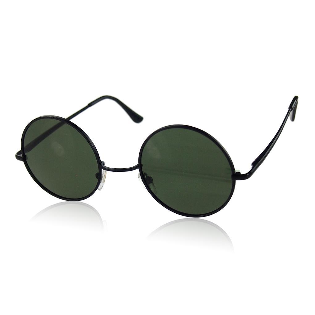 5908427c3ade9 Compre Óculos De Sol Das Mulheres Dos Homens De Moda Retro Do Vintage Preto  Fresco Armação De Metal Rodada Óculos De Sol Unisex Óculos De Sol Oculos  Gafas ...