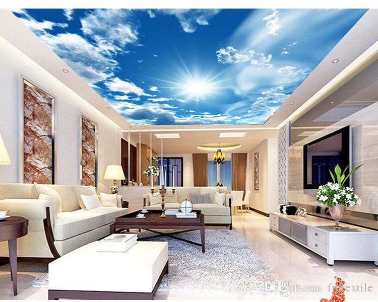 Acheter Papier Peint 3d Murale Murale Papier Peint Ciel Pour Plafond