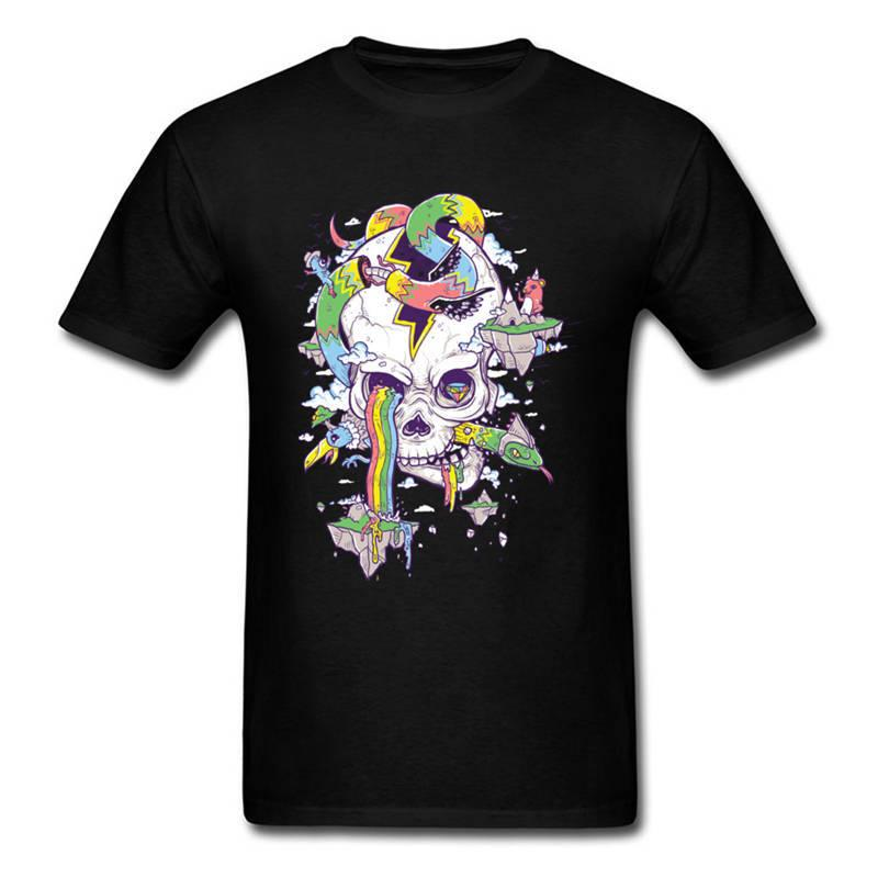 T Shirt Design Printer Short Flying Rainbow Skull Island Crew Neck Printed  Tee For Men Trendy T Shirts Offensive Shirts From Dhgatec0m10 f89d6164d