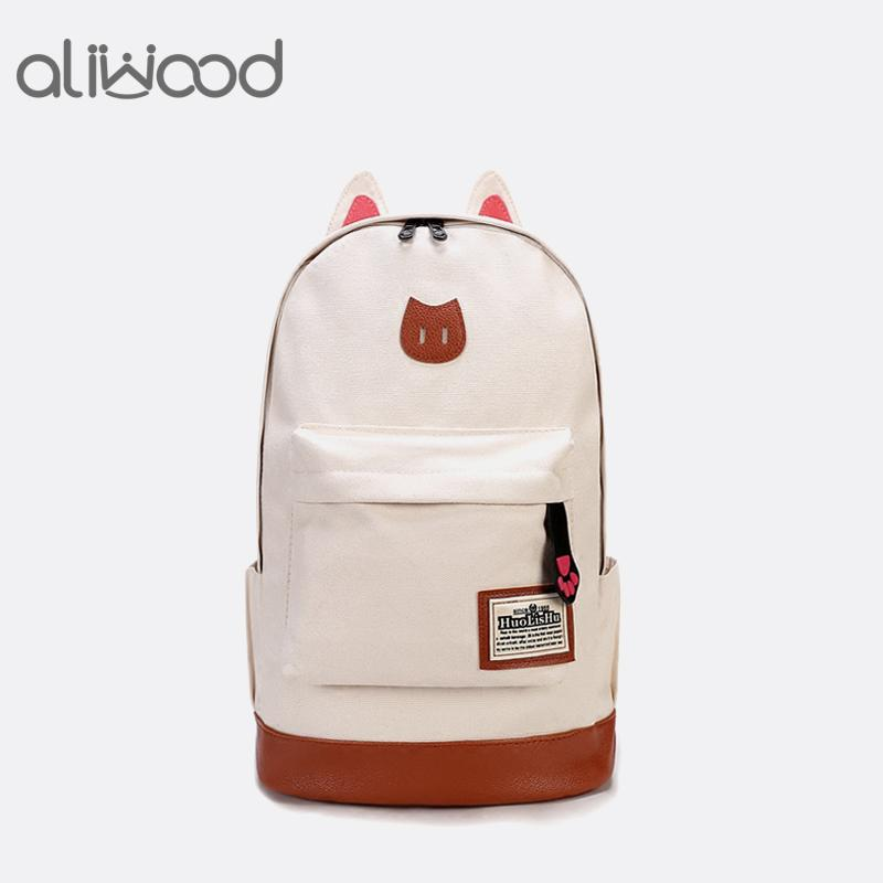 61dc0440bb Omen Backpack 2018 Fashion Women Backpacks For Teenage Girls School Bags  Female Cartoon Cat Canvas Laptop Backpack Mochila Feminina Rucks.