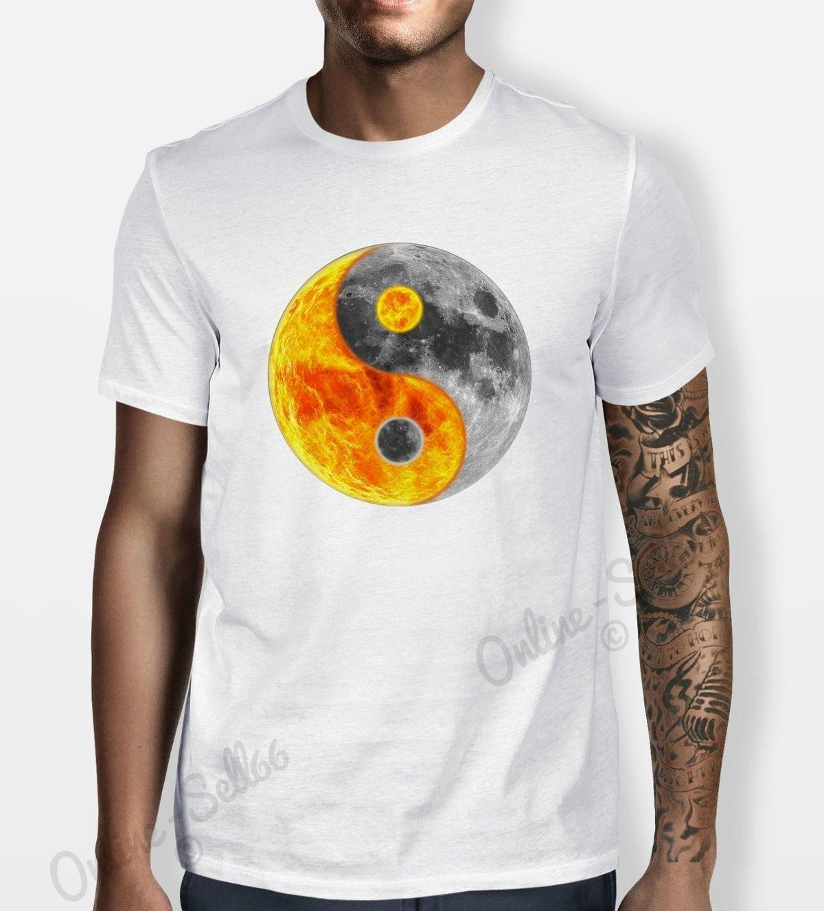 94875898 Fireball Moon Yin Yang Tshirt Sign Mens Womens Skate T Shirt Chinese  Hipster Great T Shirts Buy T Shirt From Lijian84, $12.08| DHgate.Com