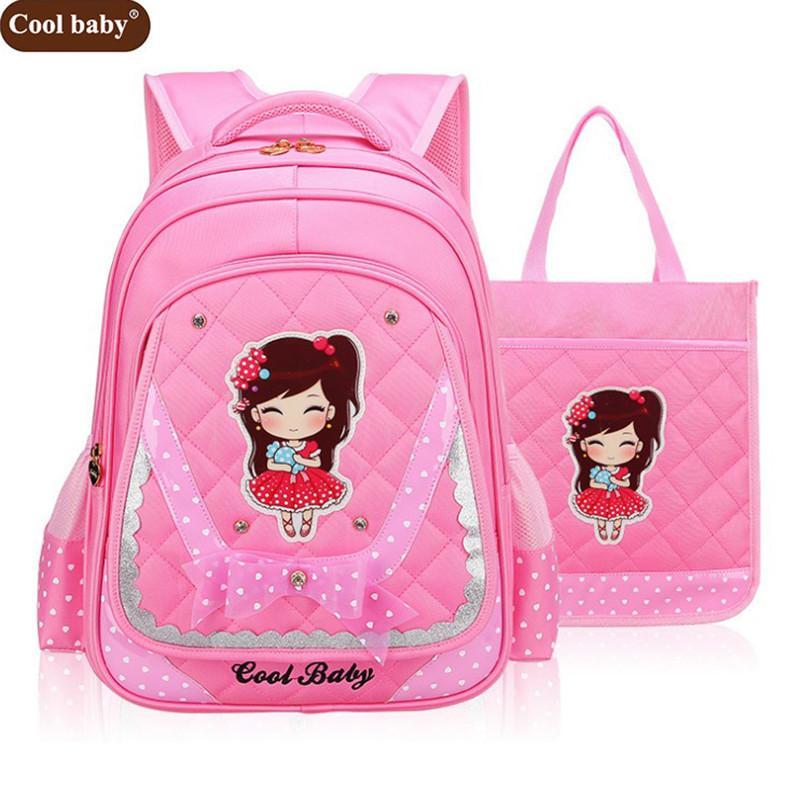 625cf9545a68f Compre Cool Baby New School Bags Para Niñas Brand Girl School Backpack  Barato Bolso De Hombro De Moda Al Por Mayor Niños Mochilas D272 A  44.49 Del  Keviney ...