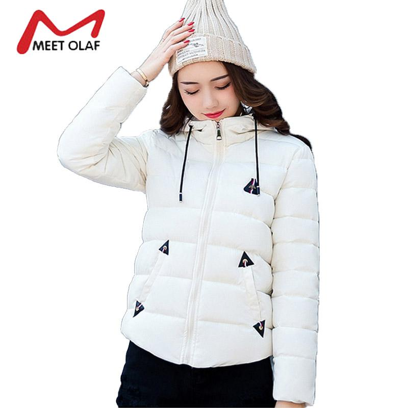 e0f6c6b77 2017 Women Winter Parka Girls Student Hood Winter Down Jackets Female Short  Cotton Padded Coats Warm Snow Overcoats Wadded Y1012