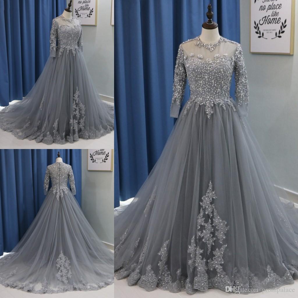 Dark-Gray Prom Dresses Cheap