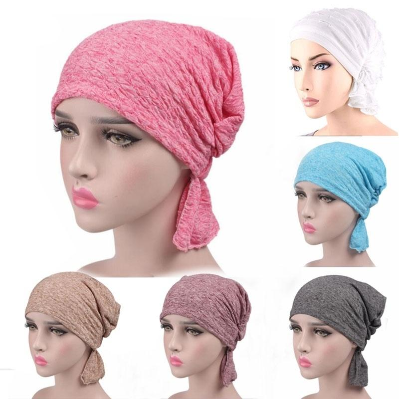 Women Hat Beanie Muslim Hat Wrinkle Ruffle Chemo Bald Scarf Turban Headwear  Women S Fashion Hair Accessories Cheap Hair Clips Cheap Wedding Hair  Accessories ... 1bb5d055db4