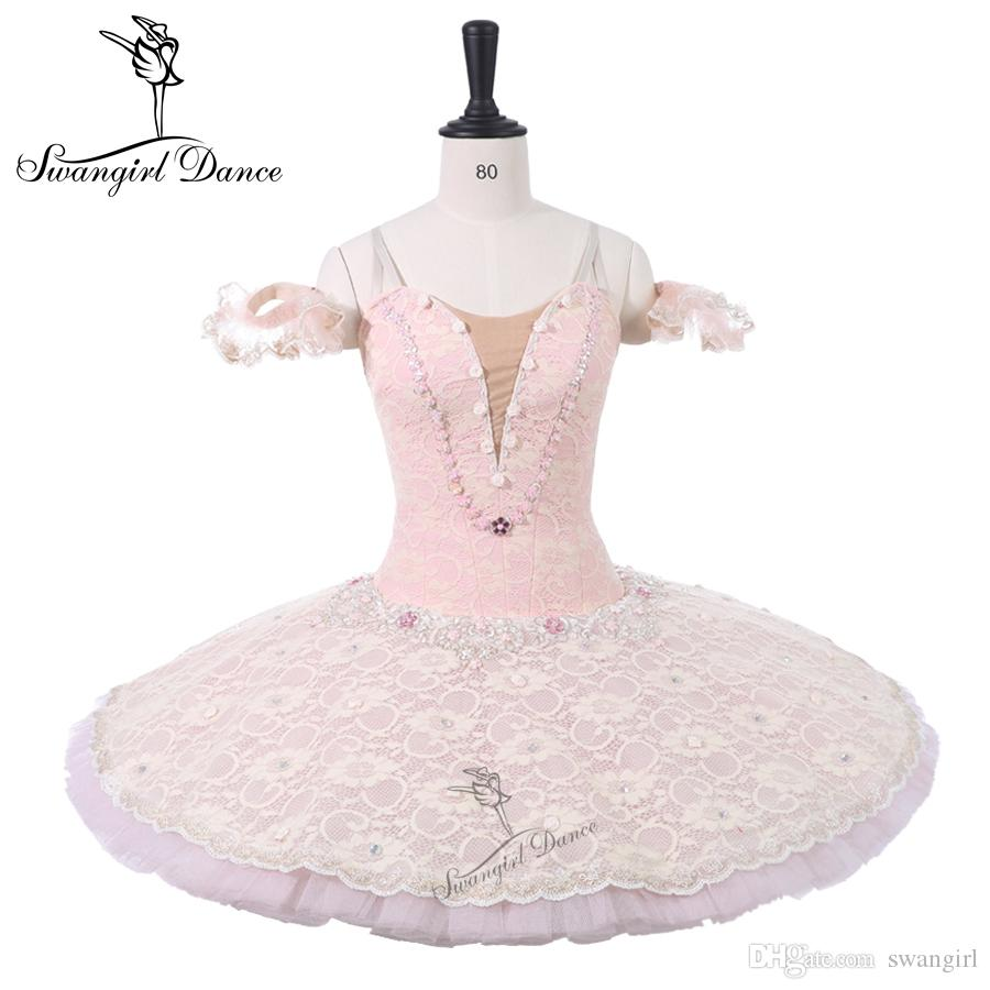 2018 Pale Pink Flower Fairy Professional Competiton Ballet Stage