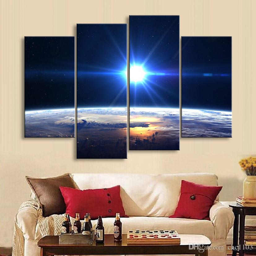 painting & calligraphy print Planet canvas poster wall art living room restaurant Bedroom Decorative paintings XQ4-004