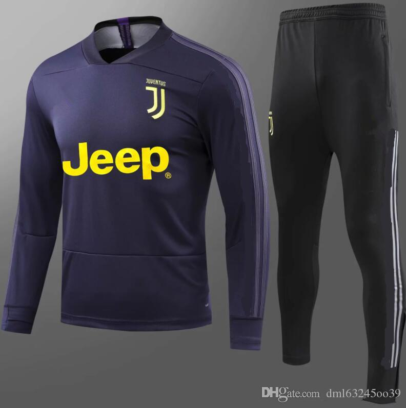 the best attitude ab11a 651e5 TOP2018/19 juventus jacket tracksuit 18 RONALDO de foot DYBALA juventus  Training suit