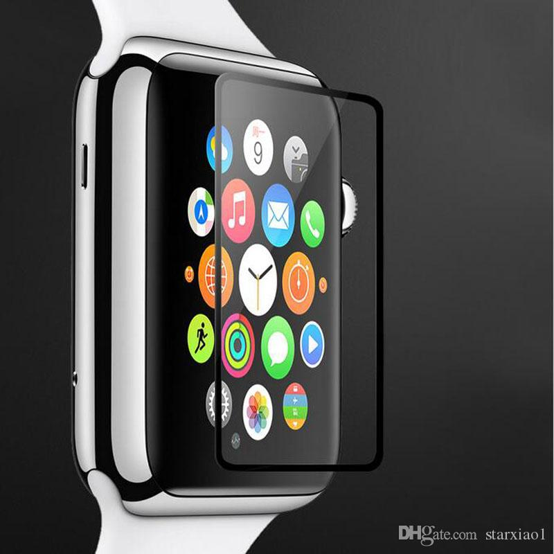 9H Tempered Glass Case For Apple iwatch smart 38mm 42mm 40mm 44mm Screen Protector 2.5D Cover for Apple Watch Series 4 3 2 1 with Retail Box