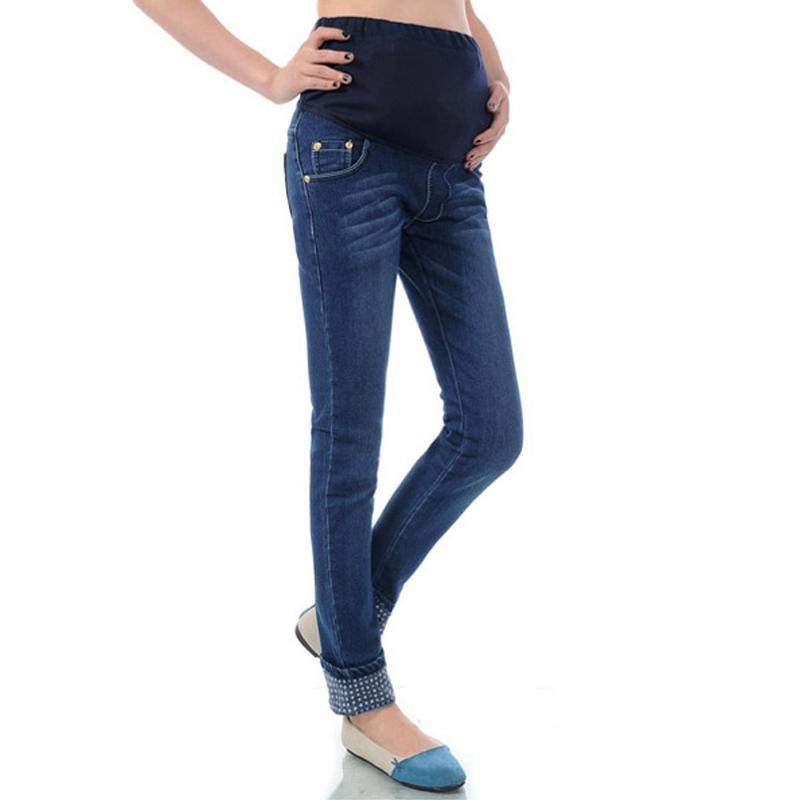 c4bdd8b3301fe 2017 Spring New Maternity Jeans Clothes High Quality Cotton Trousers ...