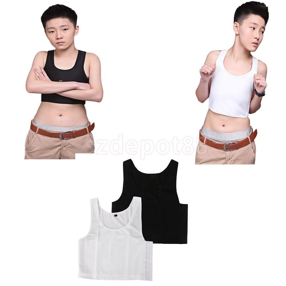 485d83c75ffa3 2019 2x Lesbian Tomboy Chest Breast Binder Slim Fit FTM Crop Vest Short  Tank Tops M From Salom